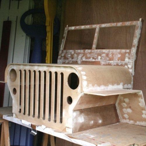 Jeep factice pour animation sécurité routière