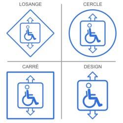 Signalétique professionnelle pour ascenseur handicapés