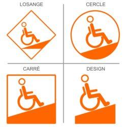 Signalétique professionnelle accès rampe handicapés