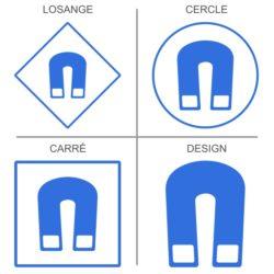 Sticker signalisation des champs magnétiques