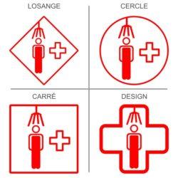 Sticker signalétique sécurité douche corporelle