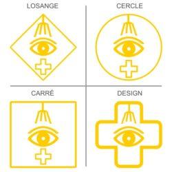 Sticker signalétique sécurité douche oculaire
