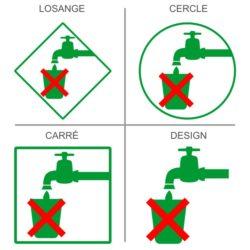 Sticker signalétique sécurité eau non potable
