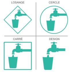 Sticker signalétique sécurité eau potable