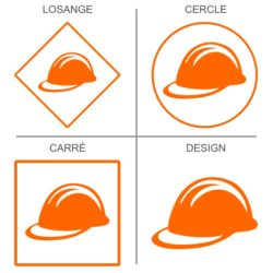 Sticker signalétique sécurité port du casque obligatoire