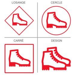 ticker signalétique chaussures de sécurité obligatoires