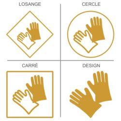 Sticker signalétique sécurité protection des mains