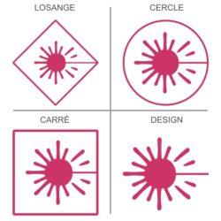 Sticker signalétique sécurité rayonnement laser,