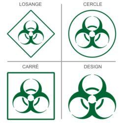 Sticker signalétique risques bactériologiques