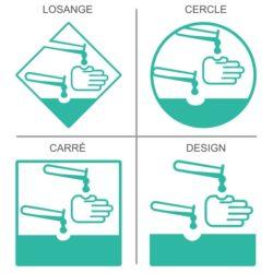 Sticker signalétique sécurité produits très dangereux et corrosifs