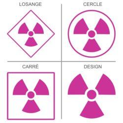 Sticker ou panneau Signalétique Rayonnement radioactifs