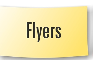 Travaux graphiques : Flyers