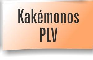 Travaux graphiques : Kakémonos PLV Stands