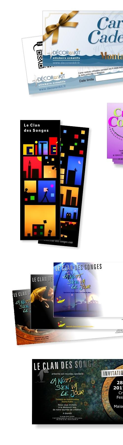 Travaux graphiques : Cartes commerciales