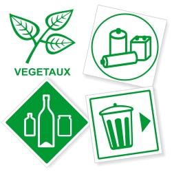 Signalétique tri des déchets et recyclage