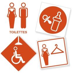 Signalétique Toilettes - Sanitaires