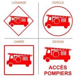 Sticker accès pompiers