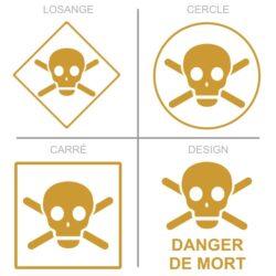 Sticker danger de mort signalétique sécurité