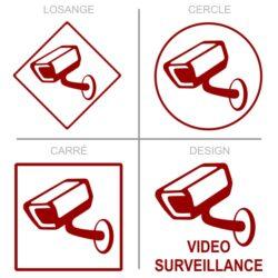 Sticker surveillance vidéo