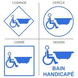 Sticker bain handicapés