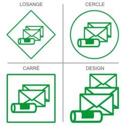 Stickers signalétique salle du courrier