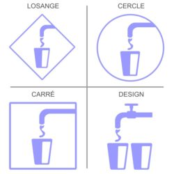 Sticker fontaine eau