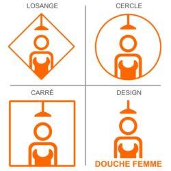 Sticker douche femmes pour signalisation sanitaires