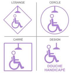 ticker douche handicapés pour signalisation des sanitaires