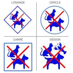 Stickers animaux interdits