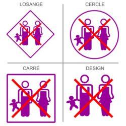 Sticker accès enfants interdit