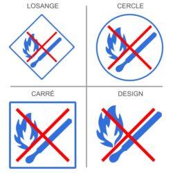 Sticker flamme interdite