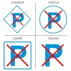 Sticker parking interdit
