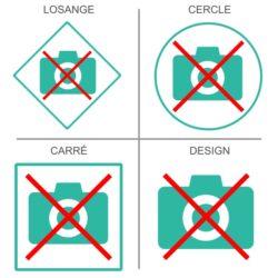 Sticker photos interdites