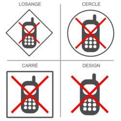 Sticker téléphone interdit