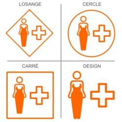 Sticker infirmerie modèle féminin