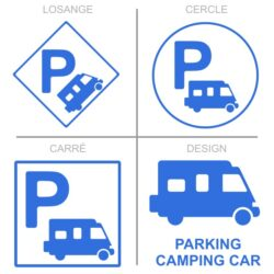 Sticker stationnement camping-car