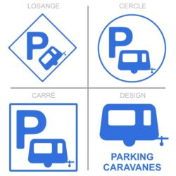 Sticker stationnement caravanes