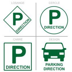 Sticker stationnement parking direction