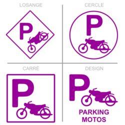 Sticker stationnement parking motos