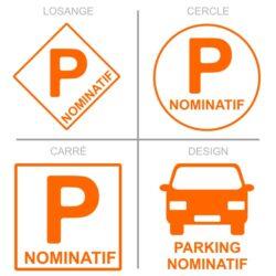 Sticker stationnement parking nominatif