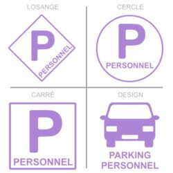 Sticker stationnement parking du personnel