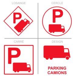 Sticker stationnement parking poids lourds
