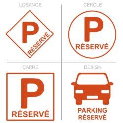 Panneau stationnement parking réservé