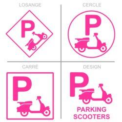 Panneaux stationnement parking scooters