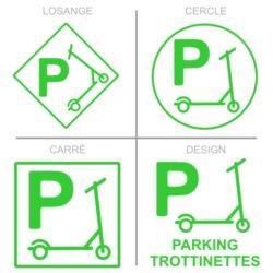 Panneau stationnement parking trottinettes