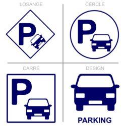Sticker stationnement parking voitures