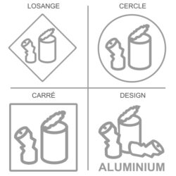 Sticker recyclage aluminium