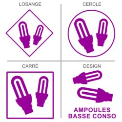 Sticker recyclage ampoules basse conso
