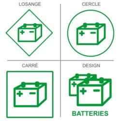 Sticker recyclage batterie