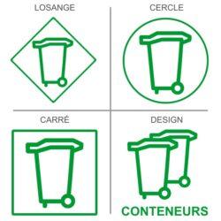 Sticker recyclage conteneur